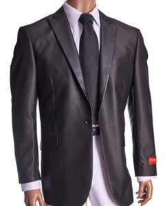 Fancy Cheap Blazers / Sport coat / For Men on Sale Patterned Black Blazer