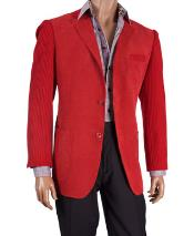 Fancy Cheap Blazers / Sport coat / For Men on Sale Knit Sleeve Chenille Blazer Red
