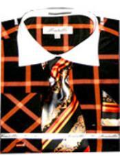 Checker Pattern French Cuff