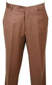 Pants Chestnut without pleat flat front Pants
