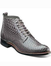 Adams Mens Gray Leather