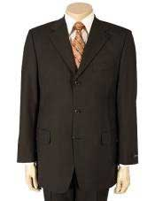 Mens Dark Brown 100% Pure Wool (SUPER 120) 2or3 buttons