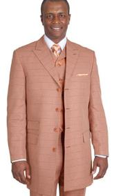 Rust~Peach~Copper~Cognac Plaid Vested Vested