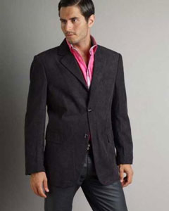 Casual Sport Coat Mens Corduroy Fashion Jacket