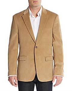 Regular Fit Mens Corduroy Blazer Khaki ~ Tan ~ Beige
