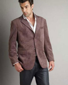 Sport Coat Mens Corduroy Brown Fashion Jacket