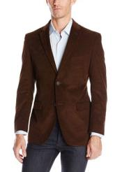 Notch Lapel Cotton Corduroy