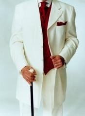 ~ Ivory ~ Off White Tuxedo Fashion Mens Suits