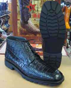 Crocodile Caiman Black Men