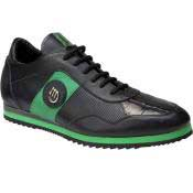8652 Nappa & Baby Crocodile Sneakers Black/Green