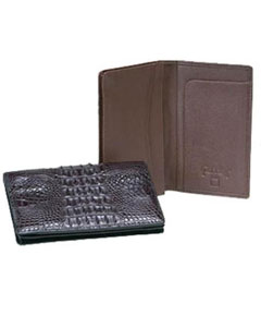 Genuine Exotic Animal Skin Ferrini Hornback Crocodile Card Holder