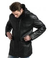Pebble-grain Carcoat ~ Peacoat Long Big and Tall Bomber Jacket Black