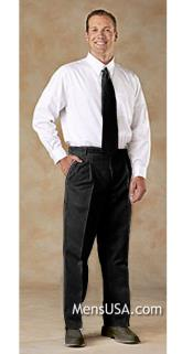 Pleated Pants / Slacks Plus White Shirt & Matching Tie Black