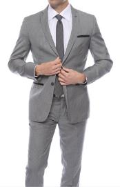 Slim Fit Suit - Fitted Suit Mens Willo Black houndstooth checkered Mens