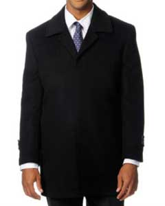 Mens Overcoat Mens Topcoat Mens Dress Coat Rodeo Black Cashmere Blend Mens