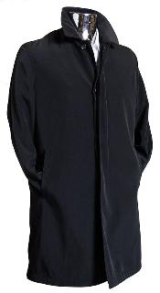 Coat Black 3/4 Raincoat