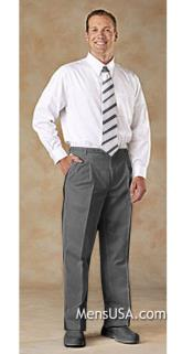 Mens Double Pleated Pants / Slacks Comfortable fit