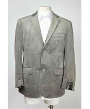 Medium Gray ~ Grey 2 Button Velvet ~ Notch Lapel Cheap