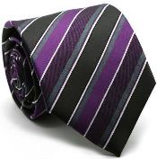 Diamond Patterned Ties Purple