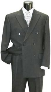 lower quality 6 on 2 Closer style Double Breasted Suit available 5