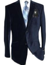 Velvet Navy Blue Sport Coat Kids Sizes Cheap Priced Unique Fashion Designer