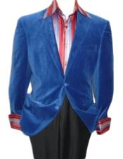 Velvet Blazer - Mens Velvet Jacket Royal Blue Velvet Cheap Priced Unique