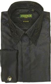 Jacquard Mens Dress Shirt