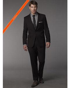slim black suit
