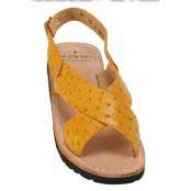 Mens Exotic Skin Sandals in ostrich World Best Alligator ~ Gator Skin or Stingray skin in White