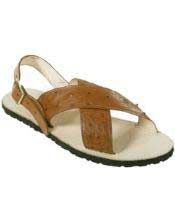 Mens Exotic Skin Sandals in ostrich World Best Alligator ~ Gator Skin or Stingray skin in