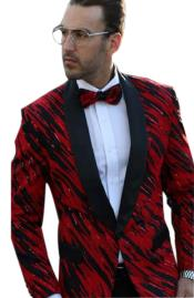 Mens Fancy Designed Black Shawl Lapel dinner jacket Sport Coat Blazer