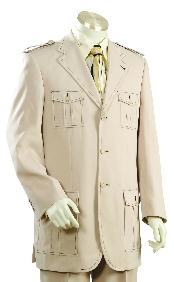 Fashionable 3 Button Taupe