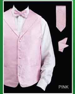 4 Piece Groomsmen Dress Tuxedo Wedding Vest  Set (Bow Tie