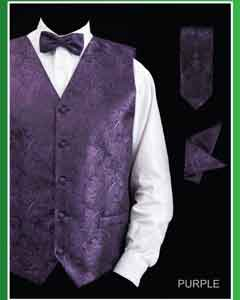 Groomsmen Dress Tuxedo Wedding Vest  Set (Bow Tie Neck Tie