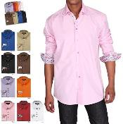 Stylish Button-down collar Fashion Formal Dress Shirt Multi-color