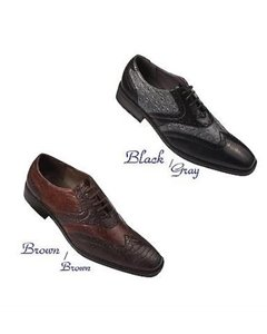 Formal Dress Shoes GreyDarkBrown