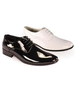 Oxfords Tuxedo Formal Mens Classic shiny flashy Lace Formal Shoes in Black and White