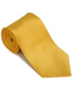 Silk Solid Necktie With Handkerchief