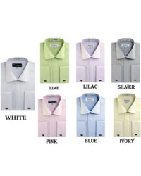 Striped French Cuff Multi-color Mens Dress Shirt