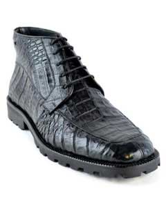 High Top Gator Skin Shoe – Black