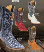 Toe World Best Alligator ~ Gator Skin Tail Print Mens Western Cowboy Boots