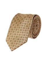Geometric Skinny Necktie Woven