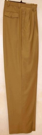 rise big leg slacks Gold Wide Leg Dress Pants  unhemmed