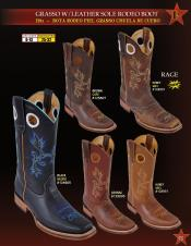 Los Altos Mens Grasso w/ Leather Sole Rodeo Cowboy Western Boots Diff Colors