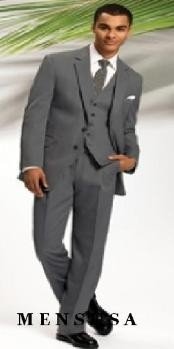Gray 2 Button Vested