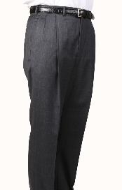 Windowpane Parker Pleated Pants Lined Trousers unhemmed unfinished bottom
