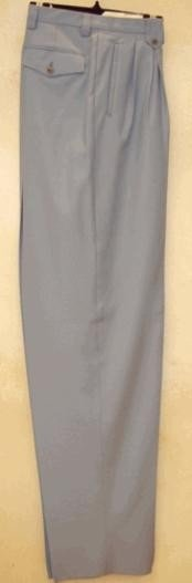 rise big leg slacks Silver Gray wide leg dress pants Pleated