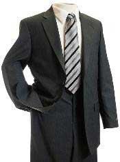 Charcoal Gray Tone on Tone Stripe ~ Pin Designer Cheap Priced Business Suits Clearance Sale