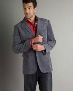 Coat Gray Mens Corduroy