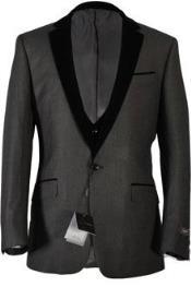 ~ Velour Collar Tuxedo